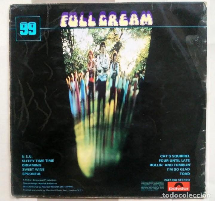 Discos de vinilo: lp cream full cream ninety nine polydor 1966 made in england - Foto 2 - 183567108