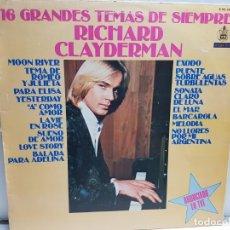 Discos de vinilo: LP-RICHARD CLAYDERMAN-16 GRANDES TEMAS EN FUNDA ORIGINAL AÑO 1979. Lote 183573717