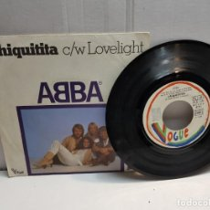 Discos de vinilo: SINGLE-ABBA-CHIQUITITA EN FUNDA ORIGINAL AÑO 1978. Lote 183577811