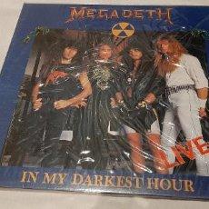 Discos de vinil: MEGADETH -IN MY DARKEST HOUR -LIVE- (1992) VINILO LP DISCO. Lote 183584177