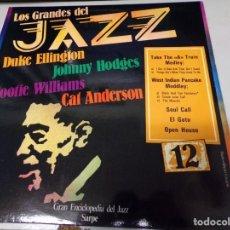 Discos de vinilo: LOS GRANDES DEL JAZZ NUMERO 12 DUKE ELLINGTON, JOHNNY HODGES, COOTIE WILLIAMS, CAT ANDERSON. Lote 183585983