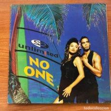 Discos de vinilo: 2 UNLIMITIED // NO ONE . Lote 183586297