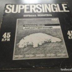 Discos de vinilo: DEPECHE MODE - JUST CAN'T GET ENOUGH . Lote 183586313