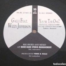 Discos de vinilo: GALLI / YOU'RE THE ONE ? / MAXI-SINGLE 12 INCH. Lote 183588542