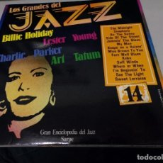 Discos de vinilo: LOS GRANDES DEL JAZZ NUMERO 14 BILLIE HOLIDAY, LESTER YOUNG, CHARLIE PARKER, ART TATUM. Lote 183589873
