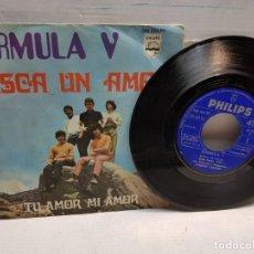 Discos de vinilo: SINGLE-FORMULA V-BUSCA UN AMOR EN FUNDA ORIGINAL AÑO 1969. Lote 183594910