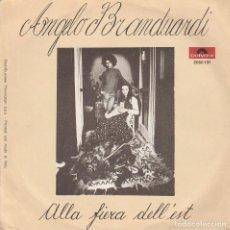 Discos de vinilo: 45 GIRI ANGELO BRANDUARDI IL DONO DEL CERCO ALLA FIERA DELL'EST POLYDOR LUNA MUSIC 1976. Lote 183597875