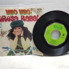 Discos de vinilo: SINGLE-TERESA RABAL-VEO VEO EN FUNDA ORIGINAL AÑO 1980. Lote 183599440