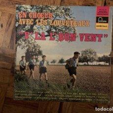 Discos de vinilo: EN CHOEUR AVEC LES LOUVETEAUX V'LA L'BON VENT. Lote 183601511