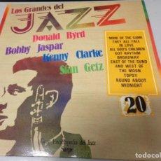 Discos de vinilo: LOS GRANDES DEL JAZZ NUMERO 20 DONALD BYRD, BOBBY JASPAR, KENNY CLARKE, STAN GETZ. Lote 183606645