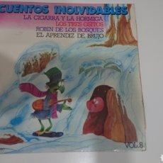 Discos de vinilo: CUENTOS INOLVIDABLES VOL.8. Lote 183607591