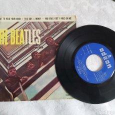 Discos de vinilo: THE BEATLES I WAT/WANT TO HOLD YOUR HAND ERROR DE IMPRESIÓN. Lote 183609646