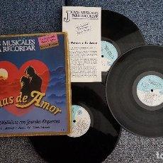 Discos de vinilo: JOYAS MUSICALES - TEMAS DE AMOR. GRANDES ORQUESTAS. ALBUM TRIPLE. AÑO 1992. Lote 183610752