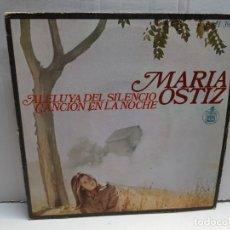 Discos de vinilo: SINGLE-MARIA OSTIZ-ALELUYA DEL SILENCIO EN FUNDA ORIGINAL AÑO 1968. Lote 183612402