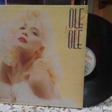 Discos de vinilo: OLÉ OLÉ, LOS CABALLEROS LAS PREFIEREN RUBIAS, LP SPAIN 1987. Lote 183616975
