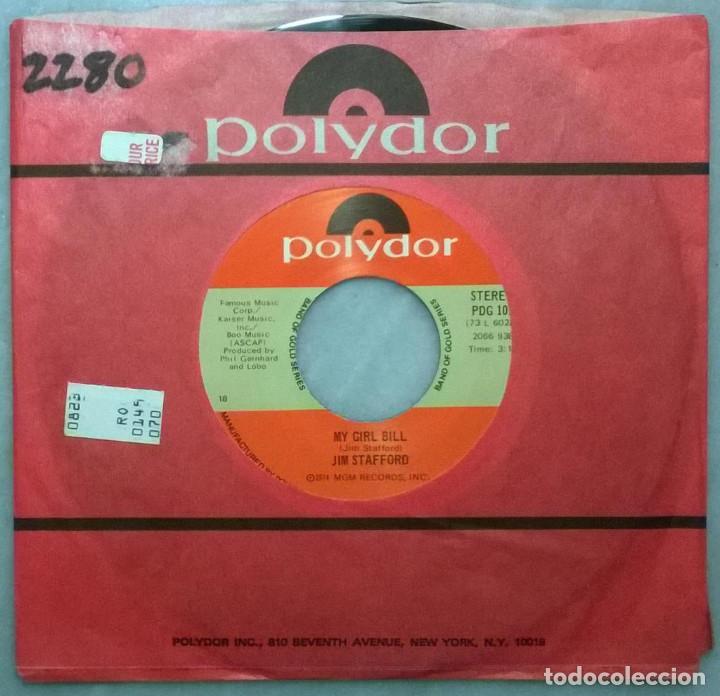 JIM STAFFORD. SPIDERS AND SNAKES/ MY GIRL BILL. POLYDOR, USA 1973 RE SINGLE (Música - Discos - Singles Vinilo - Country y Folk)