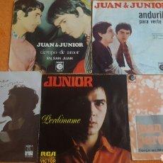 Discos de vinilo: JUAN PARDO Y JUNIOR LOTE DE 5 SINGLES. Lote 183620638