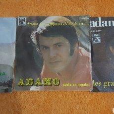 Discos de vinilo: ADAMO LOTE DE 3 SINGLES. Lote 183621240