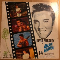 Discos de vinilo: LP RCA ELVIS PRESLEY BANDA SONORA DE AMOR EN HAWAI. Lote 183624325