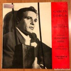 Discos de vinilo: EP VERGARA FRANCISCO PACO RABAL RECITA FEDERICO GARCÍA LORCA.LLANTO POR IGNACIO SANCHEZ MEJIAS. Lote 183627403