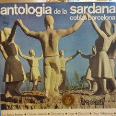 Discos de vinilo: ANTOLOGIA DE LA SARDANA COBLA BARCELONA. PHILIPS. SERIE PRESTIGIO. Lote 183647363