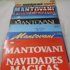 Discos de vinilo: SELECCIÓN MANTOVANI LOTE DE 7 LP´S. ÉXITOS AMERICANOS, NAVIDADES MÁGICAS, THE LEGEND.... Lote 183647398