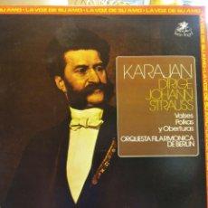 Discos de vinilo: KARAJAN DIRIGE JOHANN STRAUSS. ORQUESTA FILARMONICA DE BERLIN. EMI. Lote 183654181
