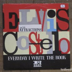 Discos de vinilo: ELVIS COSTELLO. EVERY DAY I WRITE THE BOOK...UK, 1983. FUNDA VG++. DISCO VG++. Lote 183662826