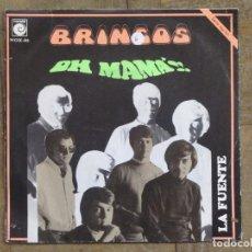 Discos de vinilo: BRINCOS. OH, MAMA; LA FUENTE. ESPAÑA, 1969. FUNDA VG+. DISCO VG+.. Lote 183664227