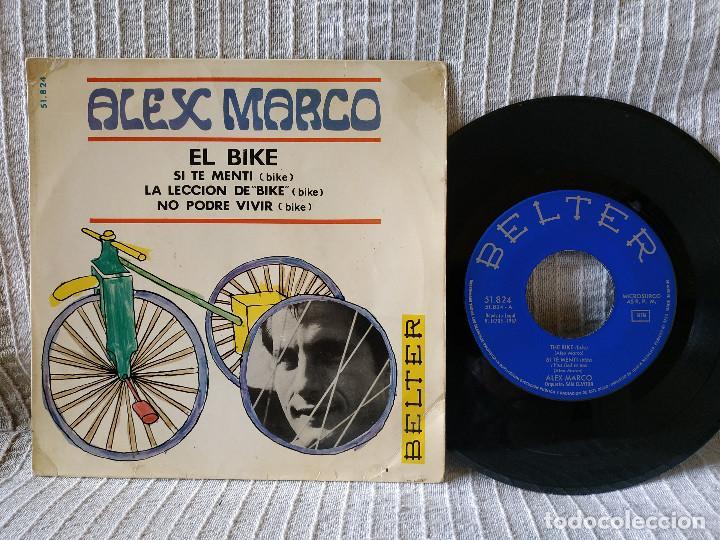 ALEX MARCO - EL BIKE + 3 (EP DE 4 CANCIONES) BELTER 1967 - TITULOS EN LAS FOTOS (Música - Discos de Vinilo - EPs - Canción Francesa e Italiana)