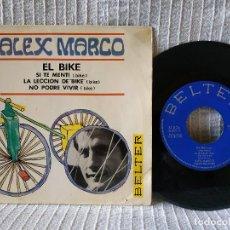 Discos de vinilo: ALEX MARCO - EL BIKE + 3 (EP DE 4 CANCIONES) BELTER 1967 - TITULOS EN LAS FOTOS. Lote 183664278