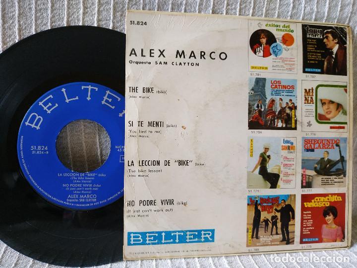 Discos de vinilo: ALEX MARCO - EL BIKE + 3 (EP DE 4 CANCIONES) BELTER 1967 - TITULOS EN LAS FOTOS - Foto 2 - 183664278