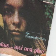 Discos de vinilo: 45 GIRI THE COMUNICATEVES JE T'AIME....MOI NON PLUS /RICORDATI RAGAZZA LABEL DURIUM 1969. Lote 183664467