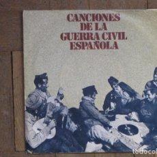 Discos de vinilo: CANCIONES DE LA GUERRA CIVIL. DISCO OBSQUIO DE EDICIONES URBIÓN. ESPAÑA, 1978. FUNDA VG+. DISCO VG+.. Lote 183667151