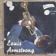 Discos de vinilo: LOUIS ARMSTRONG. WHEN YOU'RE SMILING; ST. LOUIS BLUES; SOMEDAY YOU'LL BE SORRY...ESPAÑA, 1961.. Lote 183669490