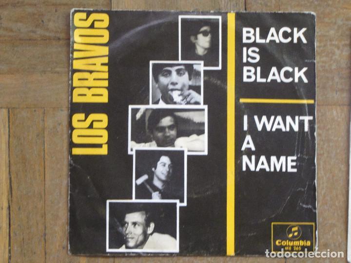 LOS BRAVOS. BLACK IS BLACK; I WANT A NAME. ESPAÑA, 1966. FUNDA VG. DISCO VG++ (Música - Discos - Singles Vinilo - Solistas Españoles de los 50 y 60)