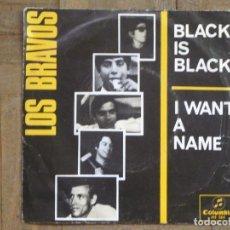 Dischi in vinile: LOS BRAVOS. BLACK IS BLACK; I WANT A NAME. ESPAÑA, 1966. FUNDA VG. DISCO VG++. Lote 183670176