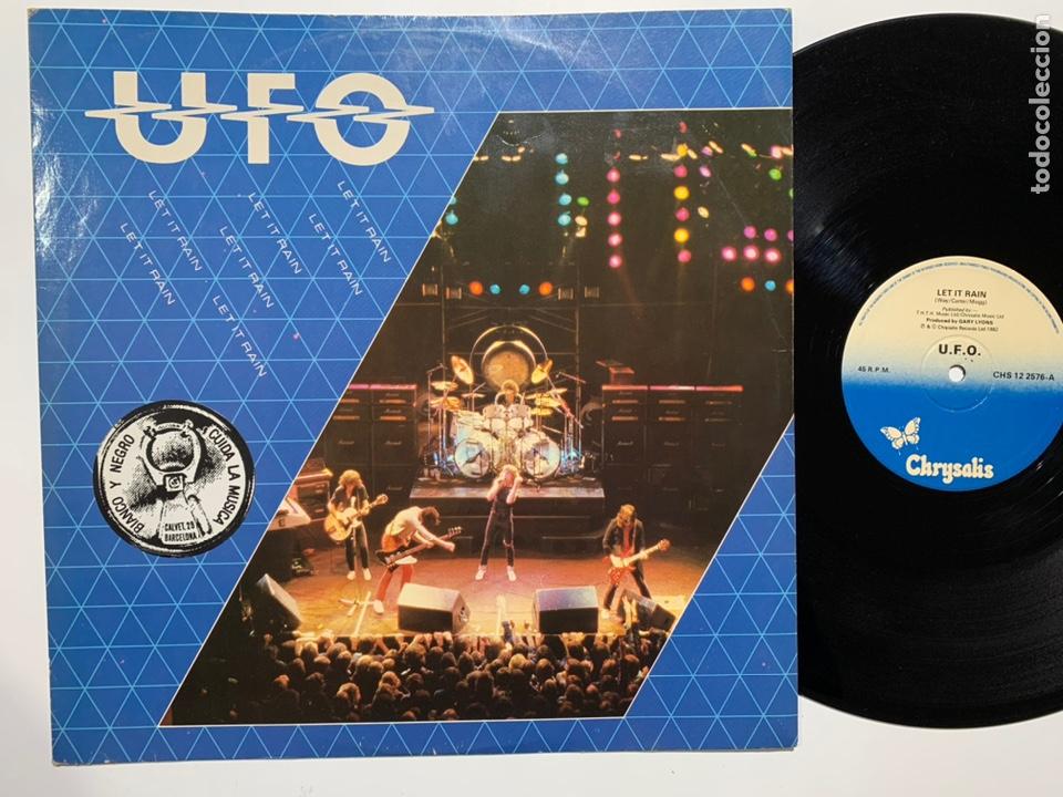 MAXI SINGLE VINILO 12'' UFO LET IT RAIN (Música - Discos de Vinilo - Maxi Singles - Heavy - Metal)