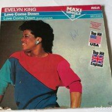 Discos de vinilo: EVELYN KING - LOVE COME DOWN - 1982. Lote 183682443