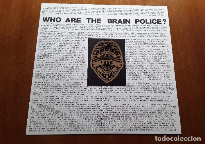 Discos de vinilo: BRAIN POLICE (Rockadelic RRLP26 - USA 1996) GARAGE PSYCHEDELIC ROCK LP - Foto 5 - 183682915