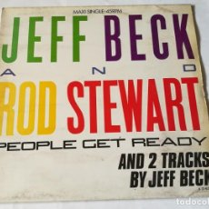 Discos de vinilo: JEFF BECK AND ROD STEWART - PEOPLE GET READY - 1985. Lote 183685386