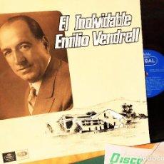 Discos de vinilo: LP EMILIO VENDRELL: EL INOLVIDABLE, 1966,LSX 3.307 ,COMO NUEVO (EX_EX )CON FOLLETOS PROMOCIONALES. Lote 183687050