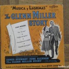 Discos de vinilo: THE GLENN MILLER STORY. EN FORMA; COLLAR DE PERLAS; PATRULLA AMERICANA... ESPAÑA, 1956. VG. VG.. Lote 183688123