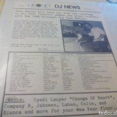 Discos de vinilo: MX. DOBLE. DISCONET -- DJ NEWS VOLUME 9. PROGRAMA 4. Lote 183689112