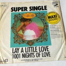 Discos de vinilo: ASHA PUTHLI - LAY A LITTLE LOVE / 1001 NIGHTS OF LOVE - 1979. Lote 183689797