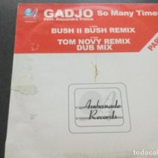 Disques de vinyle: GADJO FEAT ALEXANDRA PRINCE - SO MANY TIMES . PART 3. Lote 183702077