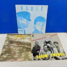 Discos de vinilo: LOTE 3 SINGLES DISCO VINILO DIFERENTES RADIO FUTURA. Lote 183704113