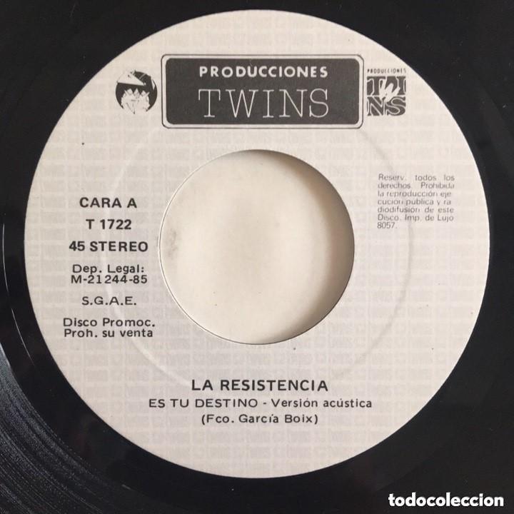 Discos de vinilo: RARO!!!! LA RESISTENCIA SINGLE TWINS DISCO EXCELENTE - Foto 2 - 183704261
