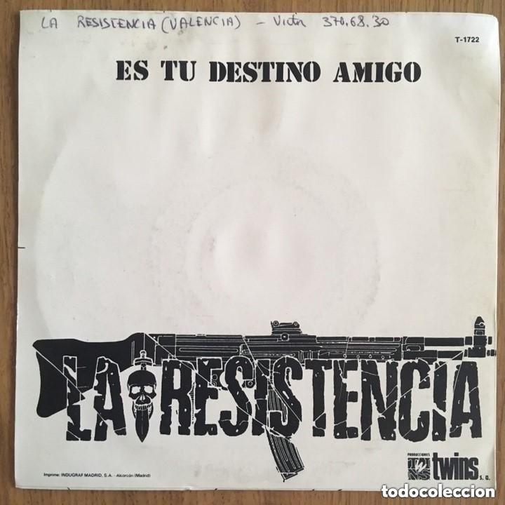 Discos de vinilo: RARO!!!! LA RESISTENCIA SINGLE TWINS DISCO EXCELENTE - Foto 3 - 183704261