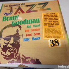 Discos de vinilo: LOS GRANDES DEL JAZZ NUMERO 38 BENNY GOODMAN, BIG BAND, TAFT JORDAN, ZOOT SIMS, BILLY BAUER. Lote 183705462